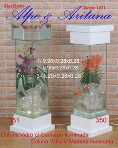 Colunas com luminária. Acesse nosso site: www.alpearitana.com.br ou fale conosco: marketing@alpearitana.com.br