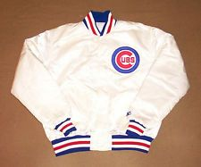 VINTAGE Chicago Cubs JACKET Baseball STARTER Large SATIN Authentic ...