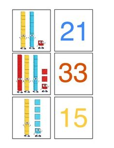 Here's a set of cards for playing a place value matching game.