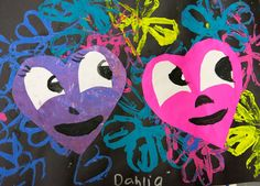 Cassie Stephens: In the Art Room: Happy Hearts Inspired by Chris Uphues