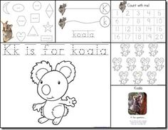 Kk is for Koala...free printables and unit ideas
