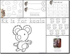 Kk is for Koala...free printables and unit ideas