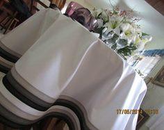 toalha redonda barrado degradê cinza