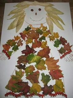 Podzimníčka Autumn Crafts, Fall Crafts For Kids, Autumn Art, Nature Crafts, Toddler Crafts, Art For Kids, Fall Halloween, Halloween Crafts, Fall Art Projects