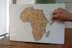 Africa Map Puzzle - Birch Plywood. $150.00, via Etsy.