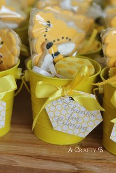 bee favors | Favors were Bit-O-Honey candy, jars of honey, and homemade sugar ...
