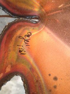 Vintage Signed Large Curtis Jere Oak Maple Leaves Metal Art Sculpture Art 1981