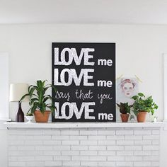 Grab some of your favorite lyrics or a quote and glitter up a sign for some simple and fun wall art!