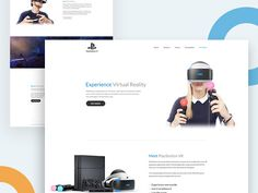 Playstation VR Landing Page Designing Concept