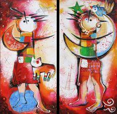 Angeles Nieto - Hombre y mujer - IQ Kunstuitleen & Galerie Painting, Grandchildren, Man Women, Men, Women, Painting Art, Paintings, Painted Canvas, Drawings