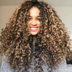 Long Ponytail with Multiple Braids - 40 Best Sporty Hairstyles for Workout – The Right Hairstyles - The Trending Hairstyle Dyed Curly Hair, Big Curly Hair, Colored Curly Hair, Blonde Curly Hair Natural, Big Hair Curls, 3a Hair, Updo Curly, Long Curly, Short Hair