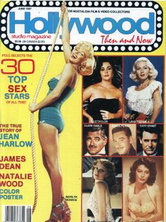 Hollywood: Then & Now (Hollywood Studio Magazine) - June 1987, magazine from USA. Main front cover photo of Marilyn Monroe by Bert Reisfeld, 1953.