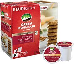 Green Mountain Coffee, Cinnamon Sugar Cookie, K-Cups for Keurig Brewers, 18 Count (Pack of 3)
