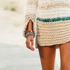 Knitted beach tunic