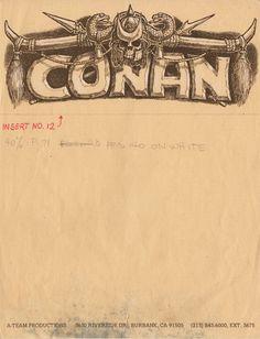 """Ron Cobb - """"Conan the Barbarian"""""""