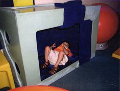 Some great ideas for DIY sensory areas for children who are blind.