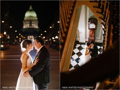 Madison Wisconsin Wedding photographer Madison Club | Nikki Winter Photography | after dark photos | State Capital | Bride and Groom portrait Photography Winter, Wedding Photography, Madison Wisconsin, After Dark, Wedding Photos, Groom, Portrait, Wedding Dresses, Club