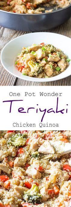 One Pot Wonder Teriyaki Chicken Quinoa