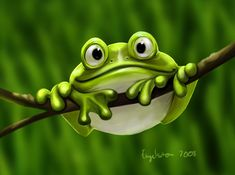 "frog illustration~ Want to use this for my Ravelry page, when I need to ""Frog"" something. He is so cute!"