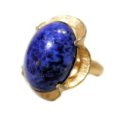 "70s Lapis Ring ""SHP"" Gold Tone size 5, Stanley Home Products, from MorningGlorious on Etsy"