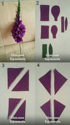 Crepe paper flowers diy via stewart living – ArtofitQuilled hyacinths {interesting: this quiller does NOT fold the paper (petal part) in half; Paper Flowers Roses, Tissue Flowers, Paper Flowers Craft, Paper Flower Backdrop, Big Flowers, Felt Flowers, Flower Crafts, Fabric Flowers, Paper Bouquet