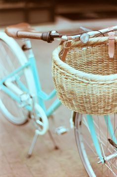 Someday I would love an older style bike with a basket.