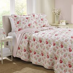 Laura Ashley Home Peony Garden Rose Quilt Set & Reviews | Wayfair