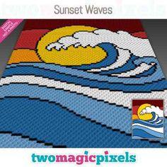Forest Sunset, Mountain Sunset, Bobble Stitch, Yarn Brands, C2c, Yarn Colors, Yin Yang, Hama Beads, Plastic Canvas