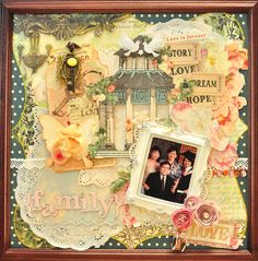 Items used:  -Webster's Pages - Country estate - serenity and breezeway,Ladies and gents die cut, Life Potrait vellum, Wonderfall -a sweet shop,western romance fabric tickets, bloomers,dazzle-me gems  -Martha Stewart vintage lace and 3-in-1 butterfly punch  -EKSuccess double crotchet lace punch  -Making Memories metal pendant keys  -Tim Holtz Life tickets  -Friskar - Good times quote stamp  -Unity - No greater love stamp  -Imaginisce roly posies   -Prima crystals  -Maya Road butterfly…