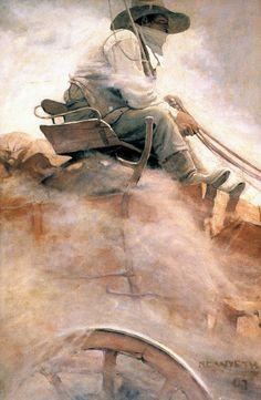 'The Ore Wagon' by NC Wyeth