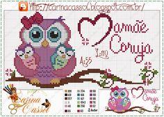 Mother owl pattern - Pontinhos Mágicos by Carina Cassol