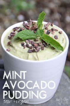 Mint Avocado Pudding - raw, vegan treat
