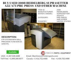 CTP System with Dell Precision eon Printer, Heidelberg, Printers