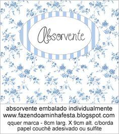 Kit Toilet Banheiro Azul Provençal | Fazendo Minha Festa Casamento