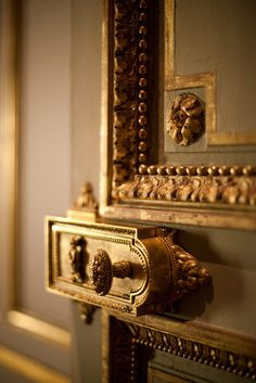 Gilded doorknobs and ornate molding...so often, its the little details that make life beautiful!