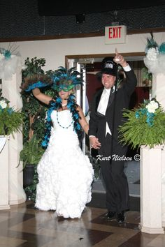Because when I think wedding, I think drinking in excess, pimp hats and stripping for beads Mardi Gras Wedding Theme!