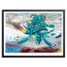 "Doze Green and Mars 1 ""Terraformer"" Colab Graffiti Print"