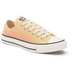 Adult Converse Chuck Taylor All Star Sneakers ($55) ❤ liked on Polyvore featuring shoes, sneakers, lt yellow, canvas lace up shoes, tie-dye shoes, star sneakers, converse trainers and yellow canvas shoes