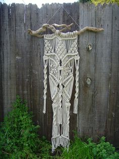 Large Macramé Wall Hanging by FreeCreatures on Etsy, $80.00
