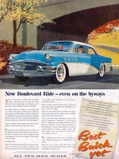 Buick New Boulevard Ride 1956 - Mad Men Art: The 1891-1970 Vintage Advertisement…