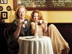 """Julie and Julia"" enjoying a coffee moment <3"