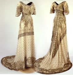 "backto1912: "" Robe du soir - 1912 - Musée McCord (Montréal) """