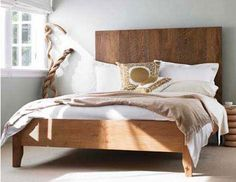 DIY queen platform bed from Making Life Pretty