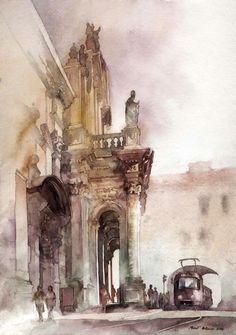 Michal Orlowski watercolor