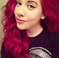 Image result for manic panic hot pink on brown hair