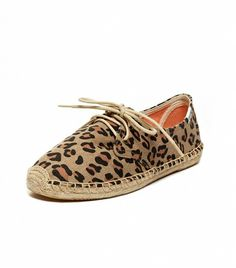 @Who What Wear - From the lace-up detail to the animal print, these are not your average espadrilles.  Soludos Animal Print Lace Up Espadrilles ($65)
