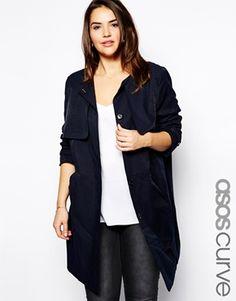 ASOS+CURVE+Exclusive+Nautical+Coat