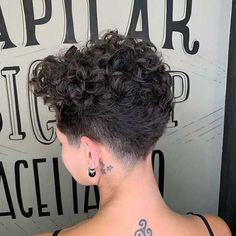 Most Popular 20 Short Curly Hairstyles Short Curly Pixie, Curly Pixie Hairstyles, Curly Hair Styles, Short Curly Haircuts, Curly Hair Cuts, Short Hair Cuts, Cool Hairstyles, Short Curls, Shaved Pixie Cut