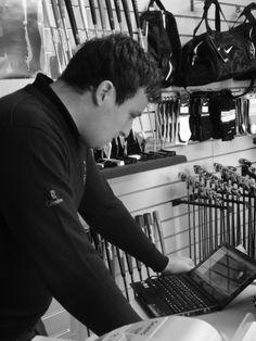Nick working