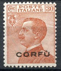GREECE IONIAN ISLANDS 1923 CORFU Italian Occupation 30 c. stamp Corfu, Postage Stamps, Cambridge, Colonial, Islands, History, Seals, Poster, Italia